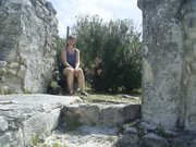 Among the maya ruins of Cancun