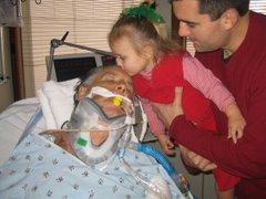 Paige Giving Bapa A Kiss