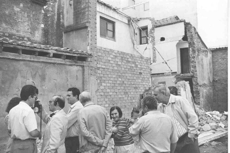 Derrumbamiento de la casa anexa a San Nicolás