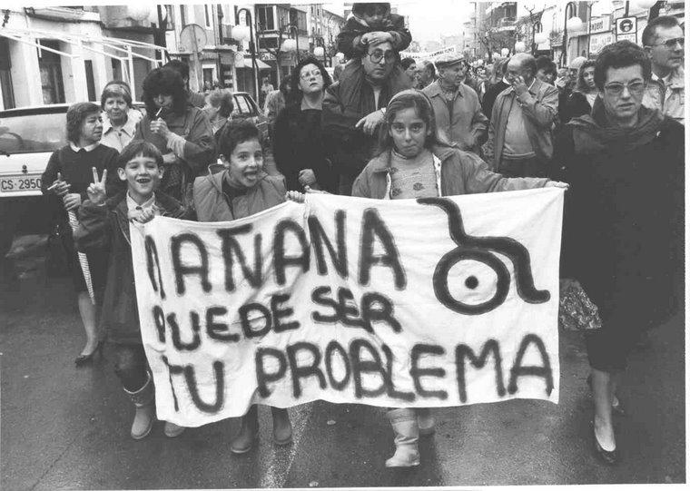 Manifestaciones en Benicassim contra el Cierre del Terminalismo