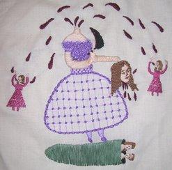 Chinnamasta Embroidery
