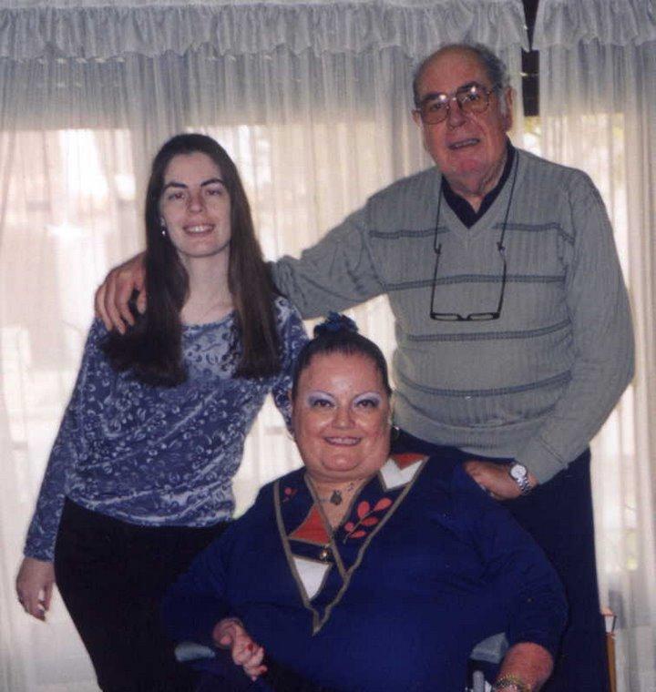 Mi esposo Sergio y mi hija Nadina