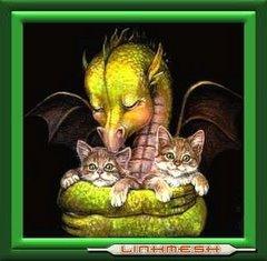 Dragón Bebé con Gatitos