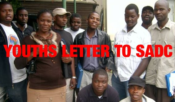 ZIM YOUTHS WRITE LETTER TO SADC!