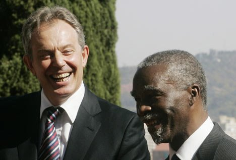 """WORLD MUST HELP RE-BUILD ZIM!""  BLAIR"