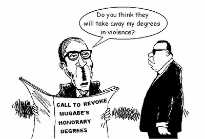 "MUGABE: ""DEGREES IN VIOLENCE..."
