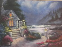 """Mom&#39;s Cottage"" (Acrylic)"