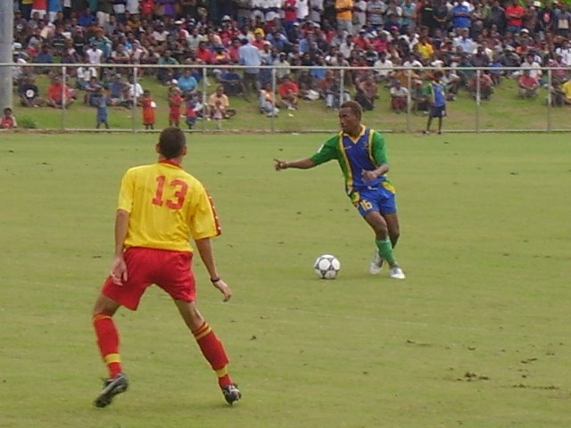 GEORGE LUI IN ACTION AGAINST PNG