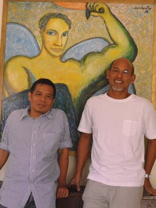 The painter of the book cover & The Spiritual Consultant.. :)) Hohoho