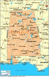 El famoso mapa de Alabama!!!!!