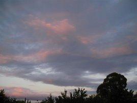 Un cielo  ...tono pastel..