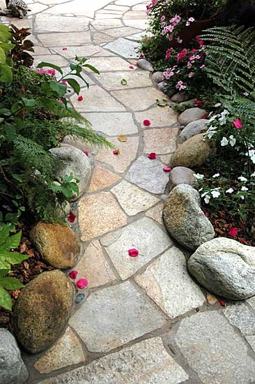 Garden Flagstone Path