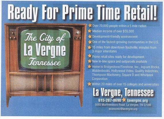 La Vergne Advertises for Retail!