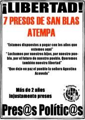presos de San Blas Atempa