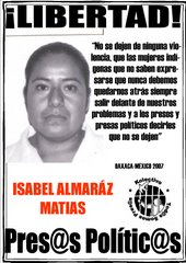 Libertad a ISABEL ALMARAZ MATIAS