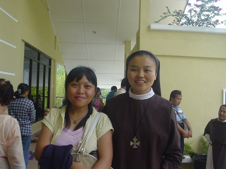 Saya bersama Sr. Mary Francess, my friend