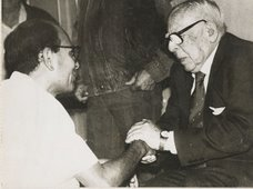 Con el Maestro Luis Alberto Sánchez