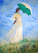 Woman with Umbrella Turned to the Right