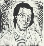 a linocut