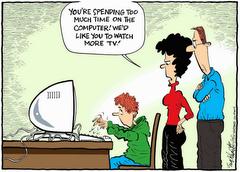 Ordenador y Televisión igual a Educación?????