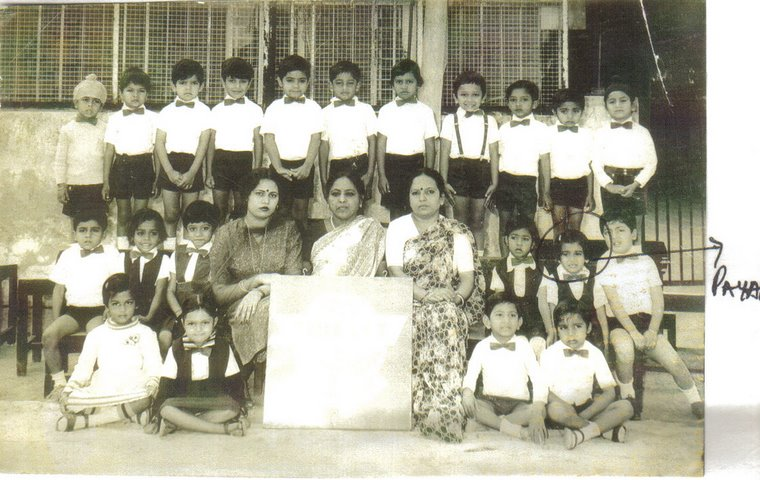 Payal Rohatgi at her class group photo