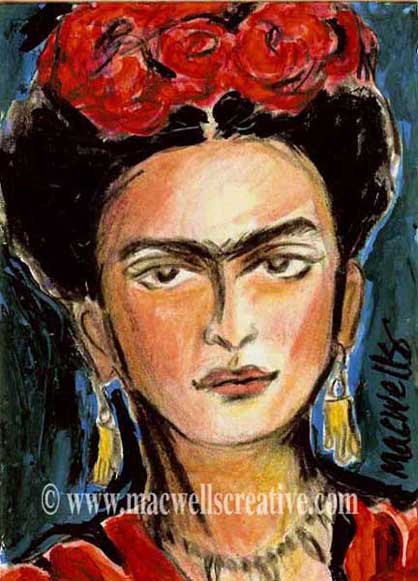 Frida Kahlo - always a favorite subject
