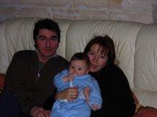 Manuela, Morgan & I, Nonant-le-Pin Xmas 2006