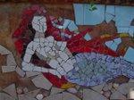 Arte mosaico parede garagem casa caco por V. Dubiela