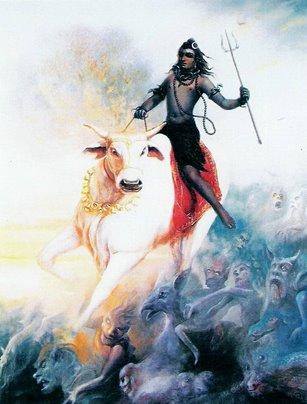 Shiva Riding Bull