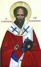 Saint Colman, monk. Iona, Bishop of Lindisfarne +AD676; 18th February