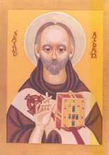 Saint Aidan, Wonderworker, monk. Iona, Bishop of Lindisfarne +AD651; 31st August