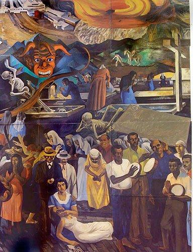 La Plena by Rafael Tufiño (1922-2008)