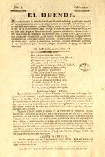 PERIÓDICO EL DUENDE 1821