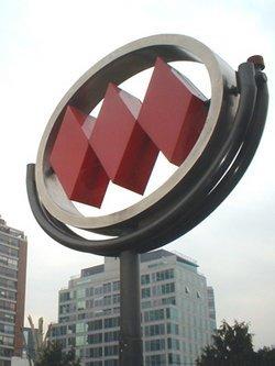 simbolo metro de santiago