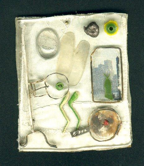 Ikarus 5, silver, alpaca, plastic, textil
