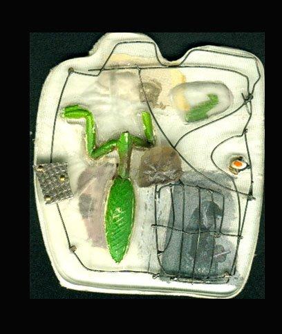 Ikarus 4, silver, alpaca, plastic, textil