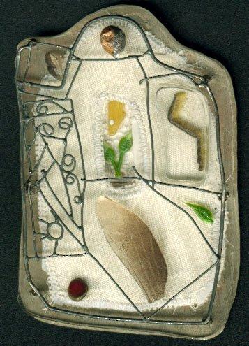 Ikarus 3, silver, alpaca, textil, plastic