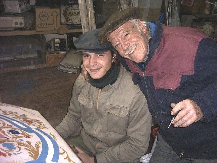 Ricardo junto a su discípulo Alejandro