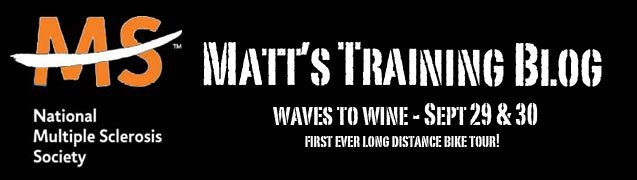 Waves to Wine 2007 Training Blog...