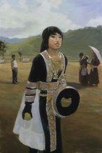 Hmong Girl throwing ball