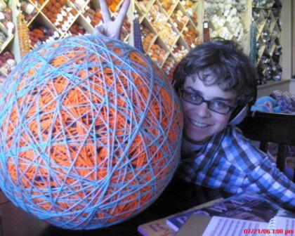 Largest ball of yarn in Highlands Ranch???