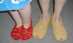 favorite easy-to-knit houseshoes