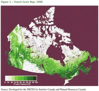 Canada&#39;s remaining forested areas