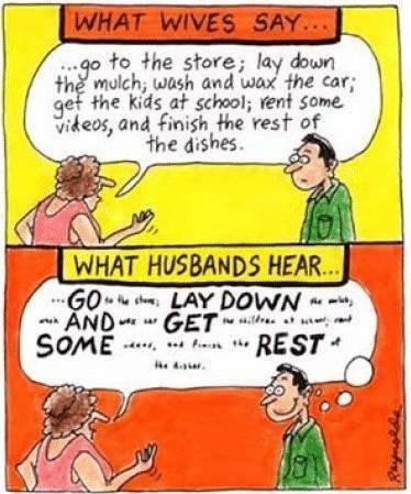 What wives say.....what husband's hear