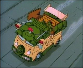 this is the ninja turtle version of the misty party wagon