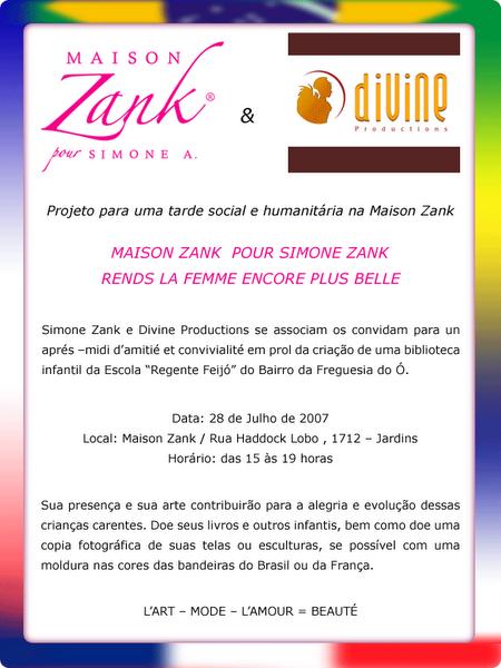 TARDE DE SOLIDARIEDADE NA MAISON ZANK