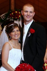 . . . and Kyle & Steph were Married.  Their first baby is due in October.