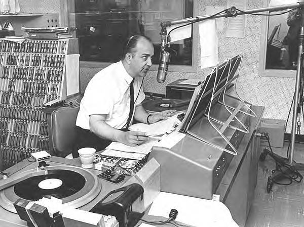 Bill Calder in the KXYZ studio in 1963