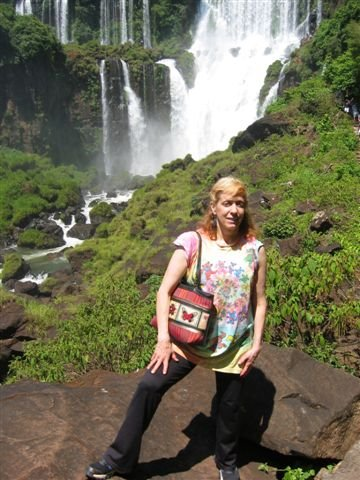 Lisa in Iguazu Falls