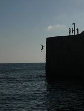 Jumping into the Mediterranean